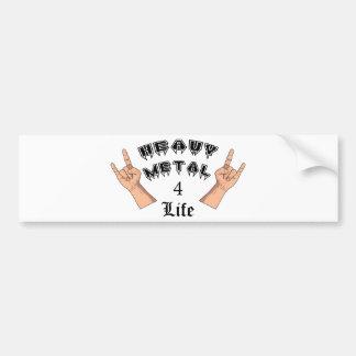 Heavy Metal 4 Life Bumper Sticker