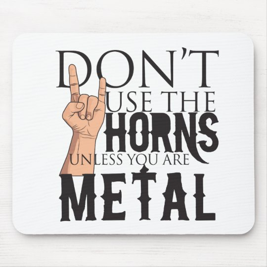Heavy Metal Badass Mouse Pad