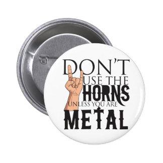 Heavy Metal Badass Pinback Button