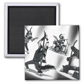Heavy Metal Band 2 Inch Square Magnet