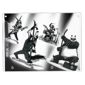 Heavy Metal Band Dry Erase Board With Keychain Holder
