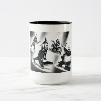 Heavy Metal Band Two-Tone Coffee Mug