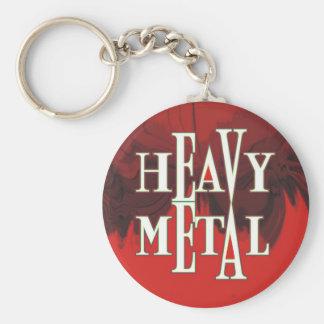 Heavy Metal Basic Round Button Keychain