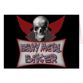 Heavy Metal Biker T shirts Gifts Greeting Card