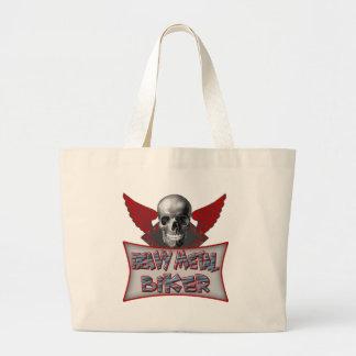 Heavy Metal Biker T shirts Gifts Jumbo Tote Bag