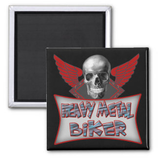 Heavy Metal Biker T shirts Gifts 2 Inch Square Magnet