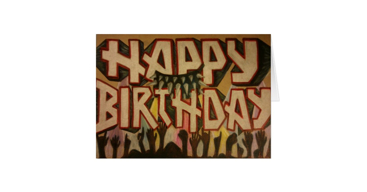 heavy metal birthday card  zazzle, Birthday card