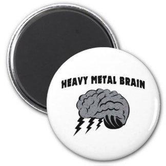 Heavy Metal Brain Refrigerator Magnets