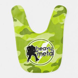 Heavy Metal; bright green camo, camouflage Bib