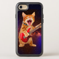 Heavy metal cat - rocker cat - guitar cats OtterBox symmetry iPhone 8/7 case