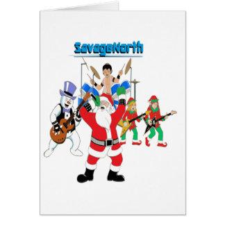 Heavy Metal Christmas Greeting Card