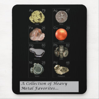 heavy metal collection mouse pad