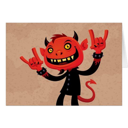 Heavy Metal Devil Card
