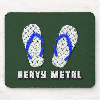 Heavy Metal Diamond Plated Flip Flops Mouse Pad