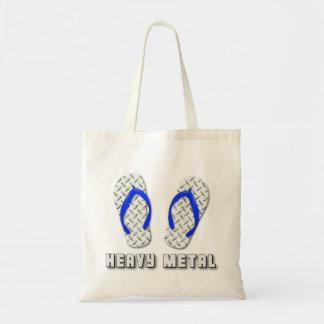 Heavy Metal Diamond Plated Flip Flops Tote Bag