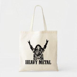 Heavy Metal Dude Totebag Canvas Bags