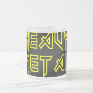 Heavy Metal Frosted Glass Coffee Mug