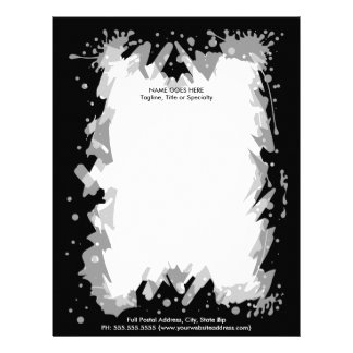 Heavy Metal Grunge Rock Design Custom Letterhead