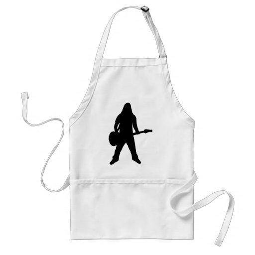 heavy metal guitar player apron