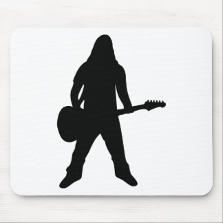 heavy metal guitar player mouse pad