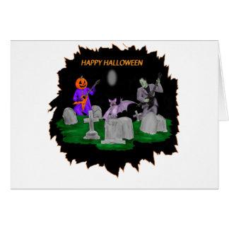 Heavy Metal Halloween Card