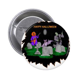Heavy Metal Halloween Pinback Button