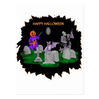 Heavy Metal Halloween Postcard