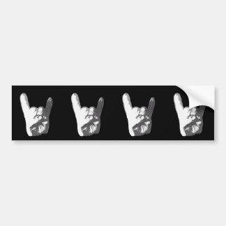 Heavy Metal Hand Sign Bumper Sticker