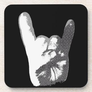 Heavy Metal Hand Sign Coaster