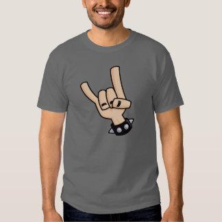 Heavy metal hand sign tshirts