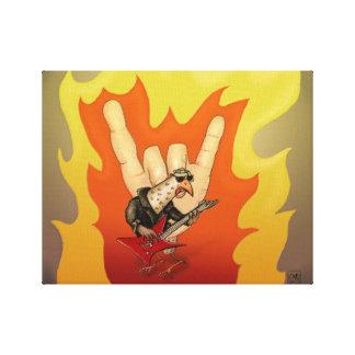 Heavy Metal Hand Turkey on Canvas