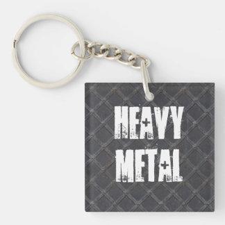 Heavy Metal Iron Metal diamond pattern texture Acrylic Keychain