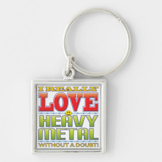Heavy Metal Love Face Keychains