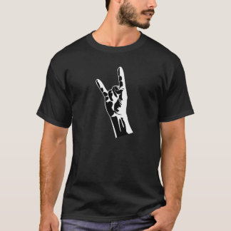 Heavy metal metal symbol hand making horns T-Shirt