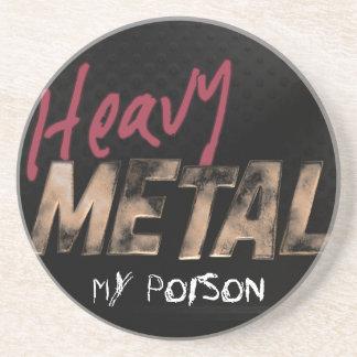 heavy Metal metallic design Coaster