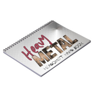 Heavy Metal metallic design Spiral Notebook