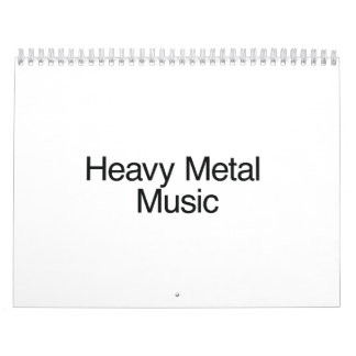 Heavy Metal Music Wall Calendars