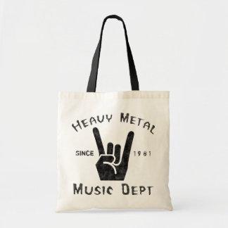 Heavy Metal Music Department Tote Bag