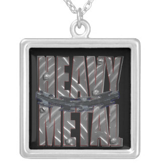 heavy metal personalized necklace