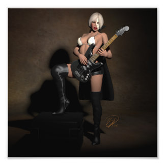 Heavy Metal Opera Pinup Ghoul Photo Print