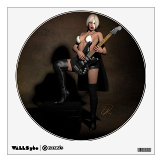 Heavy Metal Opera Pinup Ghoul Wall Decal