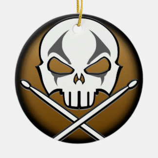 Heavy Metal Ornament Rock & Roll Drummer Custom