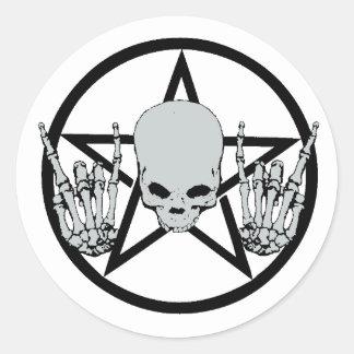 Heavy Metal Pentagram Sticker
