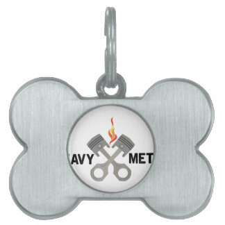 Heavy Metal Pet Name Tag