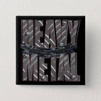 heavy metal pinback button