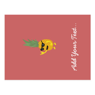 Heavy Metal Pineapple Postcard