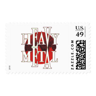 Heavy Metal Postage Stamps