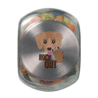 Heavy metal Puppy rock on Glass Jars