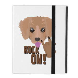 Heavy metal Puppy rock on iPad Cases