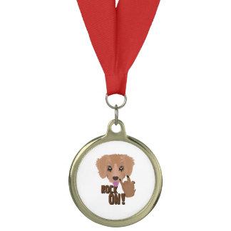 Heavy metal Puppy rock on Medal